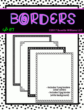 BORDERS SET #7: Polka Dots