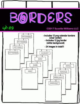 BORDERS SET #9: Calendar