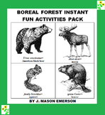 BOREAL FOREST INSTANT FUN ACTIVITIES PACK (END OF YEAR, BEGINNING ETC, 82 PP)