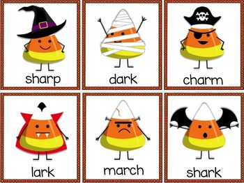 Halloween Literacy Centers | Candy Corn | R Controlled Game | BOSSY R GAME