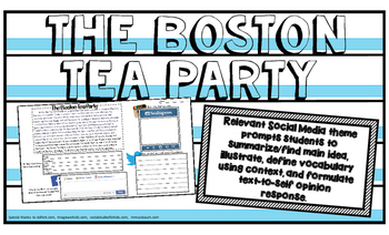 BOSTON TEA PARTY American Revolution Colonial America