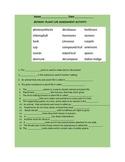 BOTANY/PLANT LIFE ASSESSMENT/ACTIVITY GRADES 4-8