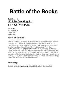BOTB - I Kill the Mockingbird