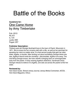 BOTB - One Came Home