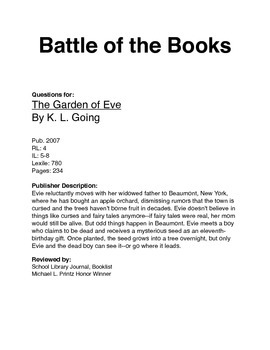BOTB - The Garden of Eve