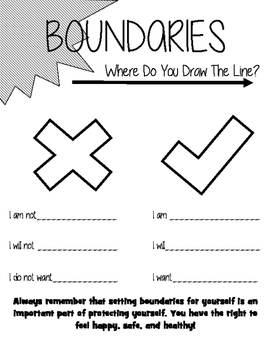 BOUNDARIES Worksheet