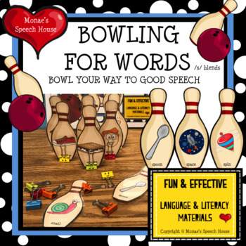 BOWLING  SPEECH THERAPY  worksheets game