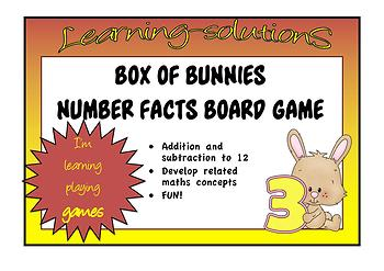 NUMBER FACTS - BOX OF BUNNIES - Learning Addition and Subtraction Facts to 12
