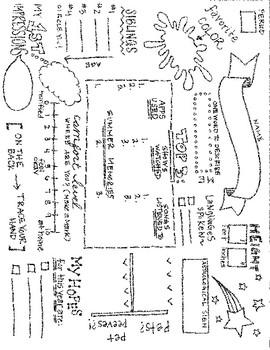 BOY Fun Info Sheet/Back-To-School