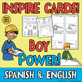 BOY POWER Inspirational Quote Cards in Spanish and English! Bilingual Craft!