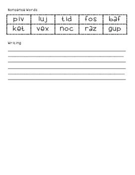B.O.Y Reading Assessment