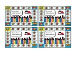 BOY SUPER HERO PUNCH/STICKER CARDS