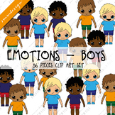 BOYS CLIPART - FEELINGS AND EMOTIONS