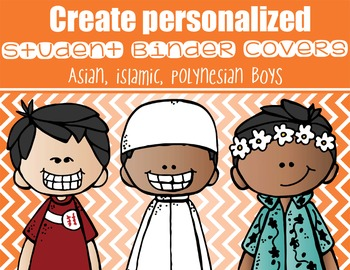 BOYS - Student Binder Covers - asian, polynesian, islamic  {Melonheadz}