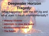 BP Deepwater Horizon Tragedy Oil Spill PowerPoint