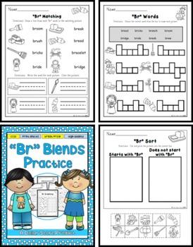 BR Blend Practice Printables