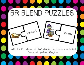 BR Blend Puzzles ~ 20 Puzzles Plus Follow Up Activities