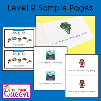 BR- Blend Readers Levels B and D (Printable and Projectable Books)