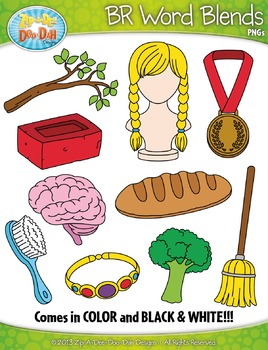 BR Word Blends Clipart Set — Includes 20 Graphics!