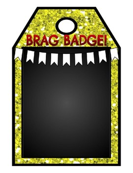 BRAG BADGE BUNDLE: 6 Editable Versions in 2 Sizes & Each w/4 Quotes