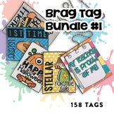 Brag Tags Bundle #1 | Digital Stickers | Digital Brag Tags for Distance Learning