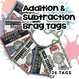 BRAG TAGS BUNDLE (Addition & Subtraction Math Fact Master)