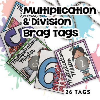 BRAG TAG BUNDLE (Multiplication & Division Math Fact Master)
