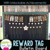 REWARD TAG Wooden Bulletin Board Set and UNLOCKABLE ACHIEV