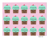 BRAG TAG  First Grade is A Piece of Cake FREEBIE