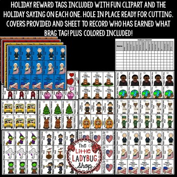 Holiday Brag Tags [Christmas, Thanksgiving -Class Rewards Positive Incentive]