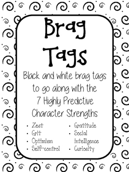 BRAG TAGS - 7 characteristic strengths