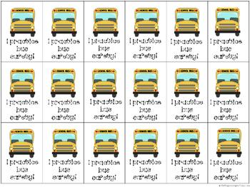 BRAG TAGS: Bus Safety {Freebie}