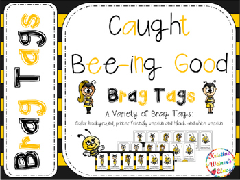 BRAG TAGS: Caught Being Good {Freebie}