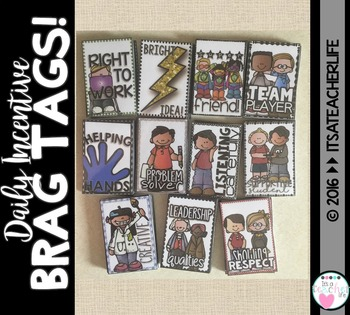 BRAG TAGS | Daily Incentives Classroom Management