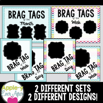 BRAG TAGS - Goals Poster