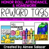 BRAG TAGS {Honor Roll, Attendance, Homework}