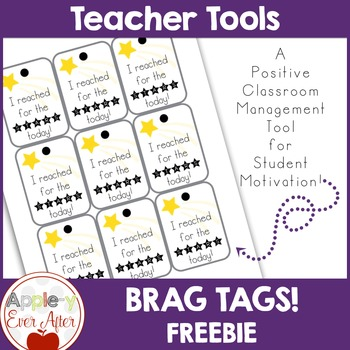 BRAG TAGS - I reached for the stars today - FREEBIE