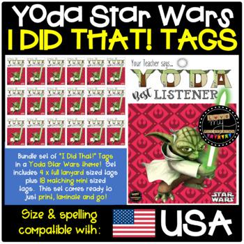 "Mini Sized Brag Tags - Star Wars ""Yoda Best Helper"" - Tabloid size, 18 per page"