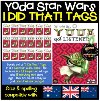 "Mini Sized Brag Tags - Star Wars ""Yoda Best Listener"" - Tabloid, 18 per page"