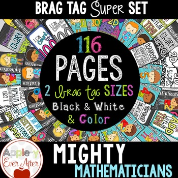 BRAG TAGS - Mighty Mathematician Math Set