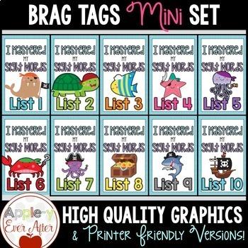 BRAG TAGS Mini Set - Pirate Word List Mastery