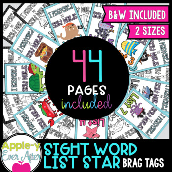 BRAG TAGS Mini Set - Pirate Word List Mastery