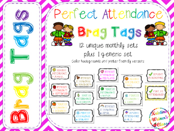 BRAG TAGS: Perfect Attendance {Behavior Incentive}