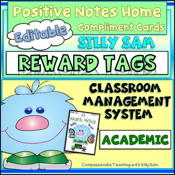 BRAG TAGS Silly Sam Classroom Compliments ACADEMIC