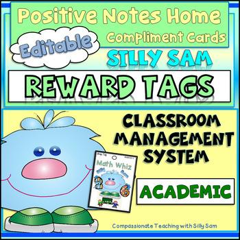 BRAG TAGS Silly Sam Classroom Compliments ACADEMIC