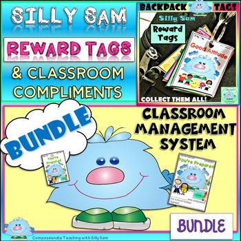 BRAG TAGS Silly Sam Classroom Compliments BUNDLE!