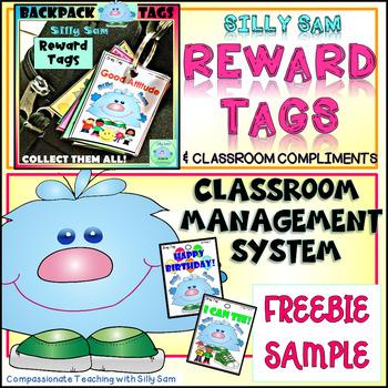 BRAG TAGS Silly Sam Classroom Compliments FREEBIE SAMPLE
