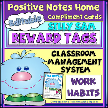 BRAG TAGS Silly Sam Classroom Compliments WORK HABITS
