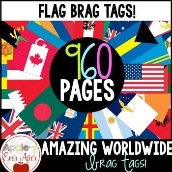 BRAG TAGS Super Set - Amazing Worldwide Flags