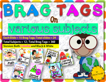 BRAG TAGS - Super Subjects